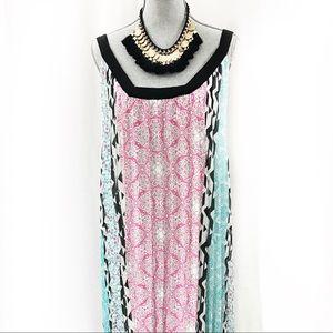 Lane Bryant Multicolor Print Maxi Dress